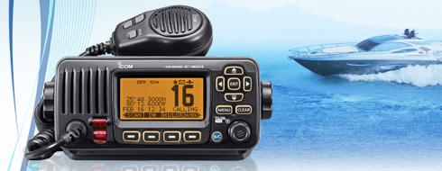 Icom M324 VHF Marine Transceiver - Black-0