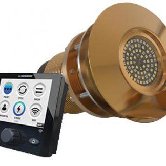 Lumishore TIX1602-CCP-FF Single Light Interchangeable Flush Fit Thru Hull-0