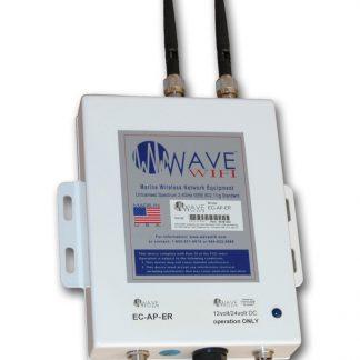 Wave WiFi EC-AP-ER Extended Range Ethernet Converter/Bridge with Local AP-0