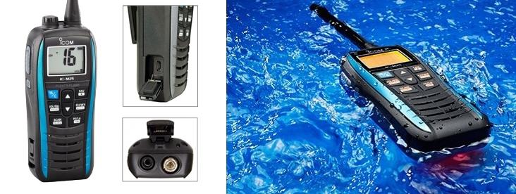 Icom M25 Marine Transceiver - Blue-0